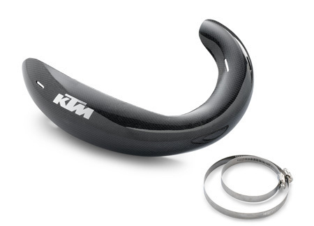 EXHAUST GUARD CARBON CPL.