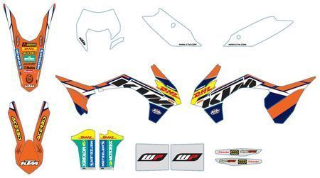 GRAFIC KIT FACTORY ENDURO